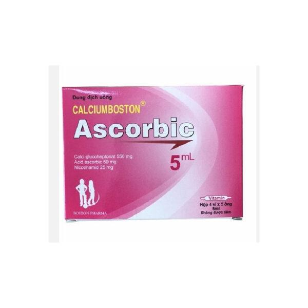 CalciumBoston Ascorbic 5ml - FĐiều Trị Tình Trạng Thiếu Vitmin C