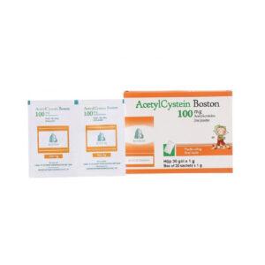 Acetylcystein Boston 100mg 30 Gói - Trị Bệnh Đường Hô Hấp