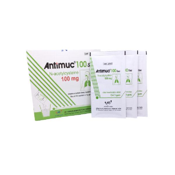 Antimuc 100 Sac Hộp 30 Gói - Thuốc Long Đờm