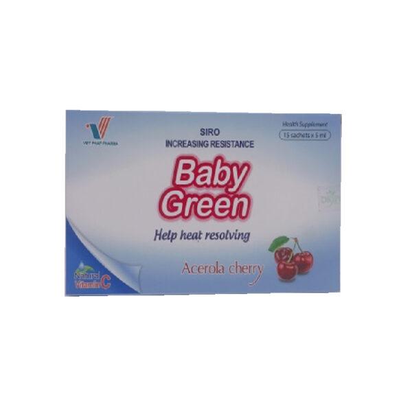 Siro Baby Green - Hộp 15 Ống - Tăng Cường Hệ Miễn Dịch