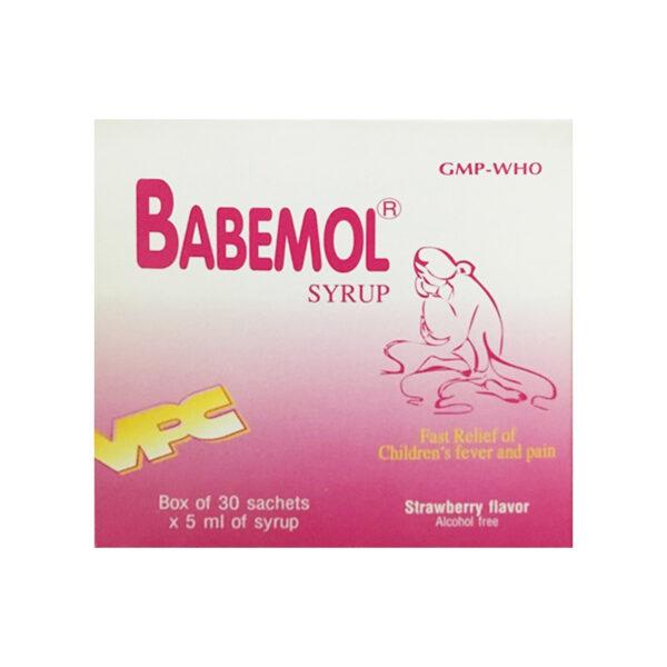 Babemol Syrup Hộp 30 Gói - Giúp Bé Hạ Sốt, Giảm Đau