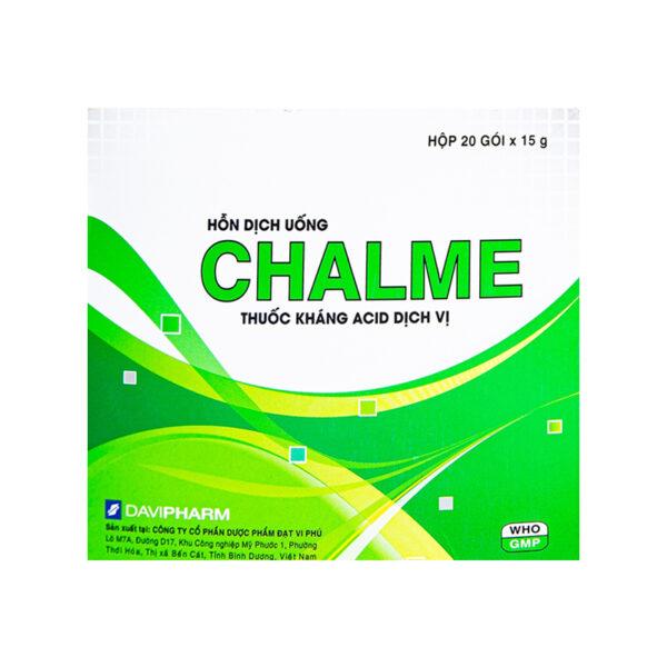 Chalme Hộp 20 Gói - Thuốc Kháng Acid Dịch Vị