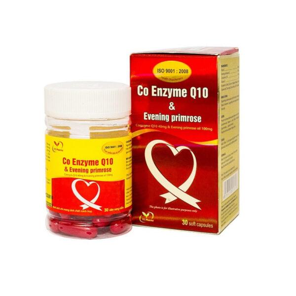 Co Enzyme Q10 & Evening Primrose 30 Viên - Giảm Cholesterol Máu