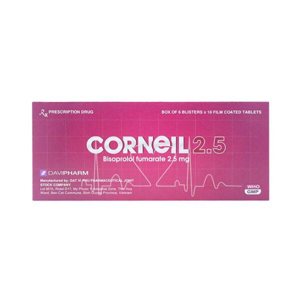Corneil 2.5 Hộp 60 Viên - Điều Trị Huyết Áp Cao