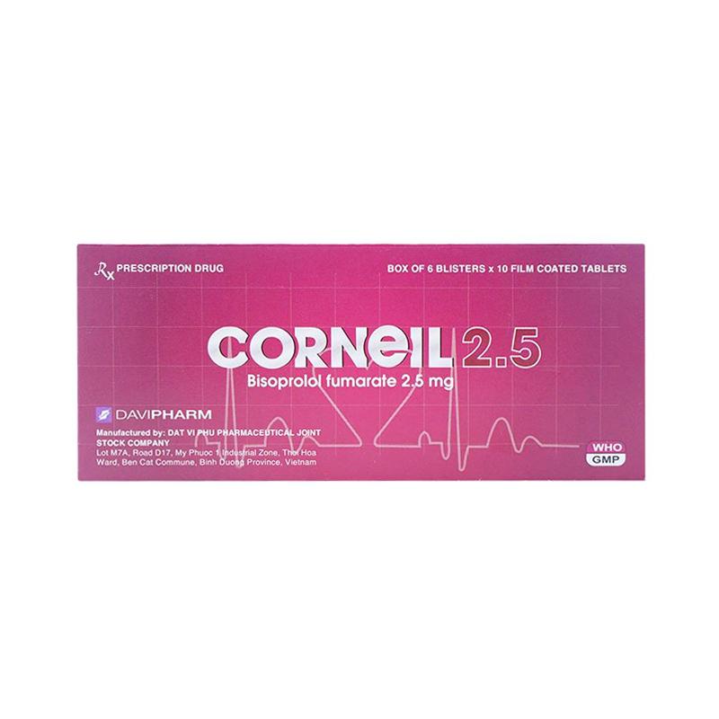 Corneil 2,5 Hộp 60 Viên