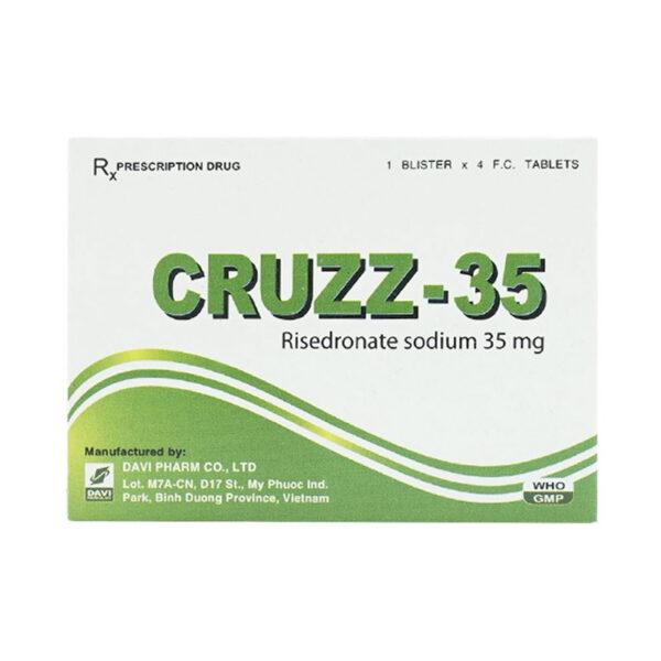 Cruzz-35 Hộp 4 Viên - Điều Trị Bệnh Loãng Xương