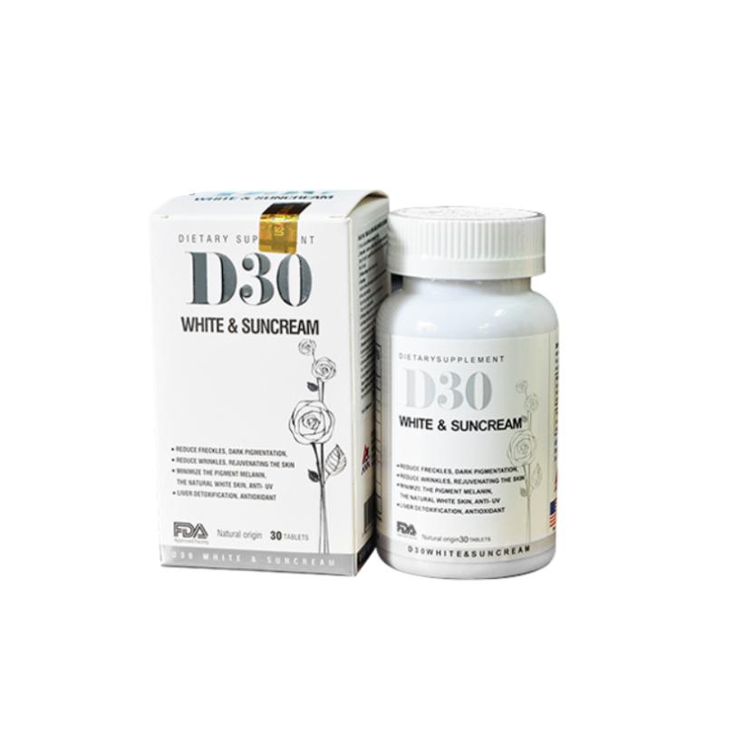 D30 White & Suncream Lọ 30 Viên