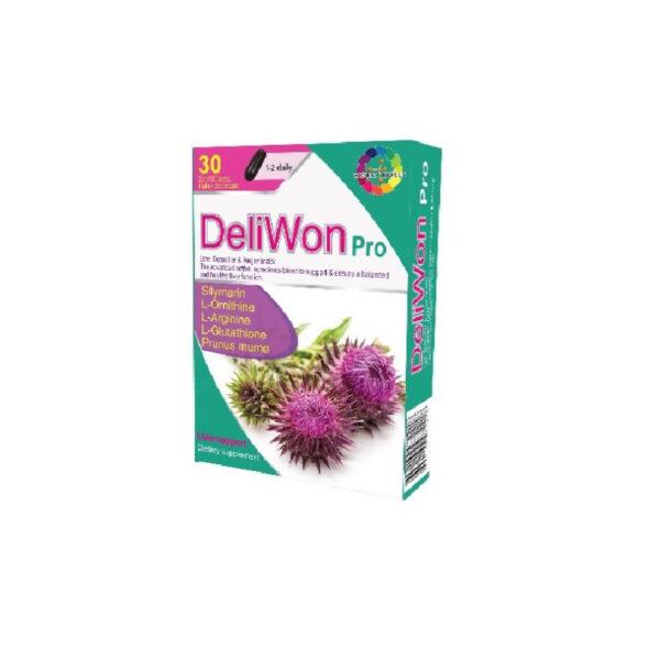 DELIWON PRO Hộp 30 Viên - Phòng Ngừa Suy Giảm Chức Năng Gan