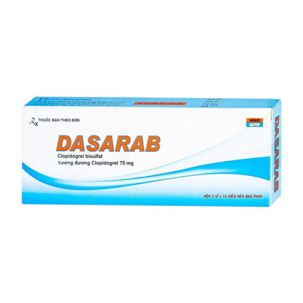 Dasarab Hộp 28 Viên - Thuốc Ức Chế Kết Tập Tiểu Cầu