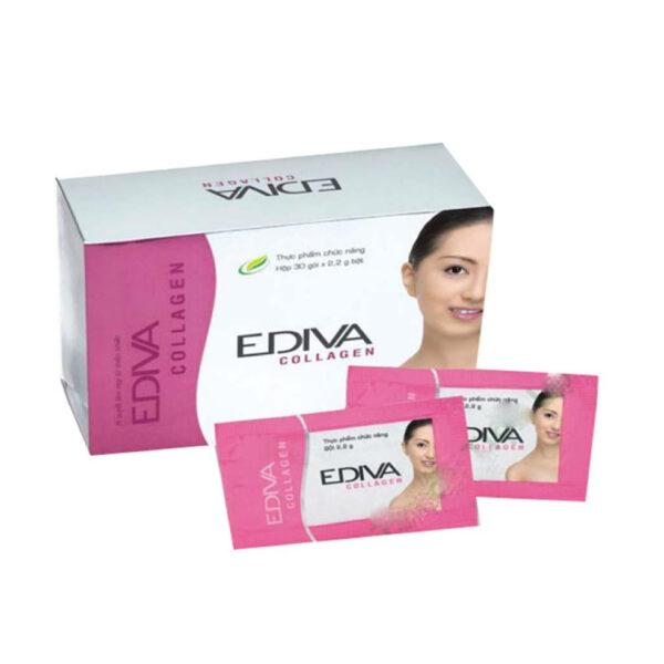 Ediva Collagen - Hộp 30 Gói - Cải Thiện Và Làm Mờ Nếp Nhắn Da