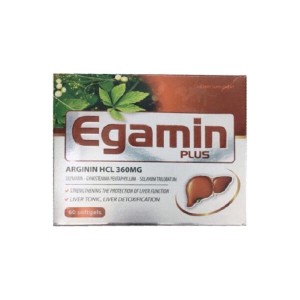 Egamin Plus - Hộp 60 Viên - Tăng Cường Chức Năng Gan