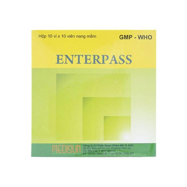 Enterpass Hộp 100 Viên - Thuốc Trị Đầy Hơi, Khó Tiêu