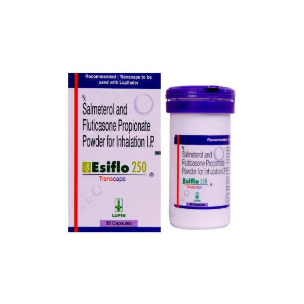 Esiflo 250 Transcaps Lọ 30 Viên - Điều Trị Bệnh Phổi Tắc Nghẽn Mãn Tính