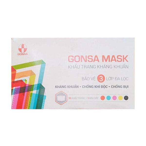Gonsa Mask Hộp 50 Cái - Khẩu Trang Kháng Khuẩn 3 Lớp