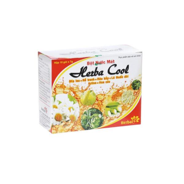 Herbal Cool - Hộp 10 Gói - Bột Nước Lợi Tiểu, Bổ Gan