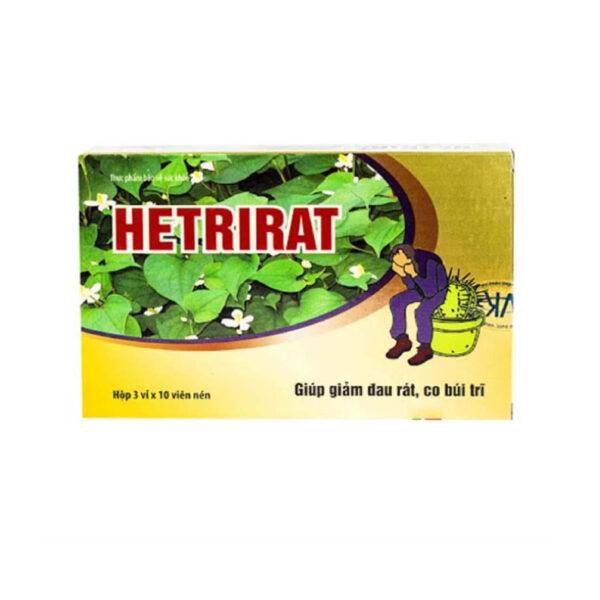 Hetrirat Hộp 30 Viên - Phòng Ngừa Bệnh Trĩ