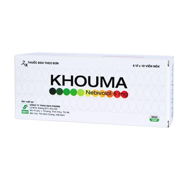 Khouma 5mg Hộp 60 Viên - Điều Trị Suy Tim Ổn Định