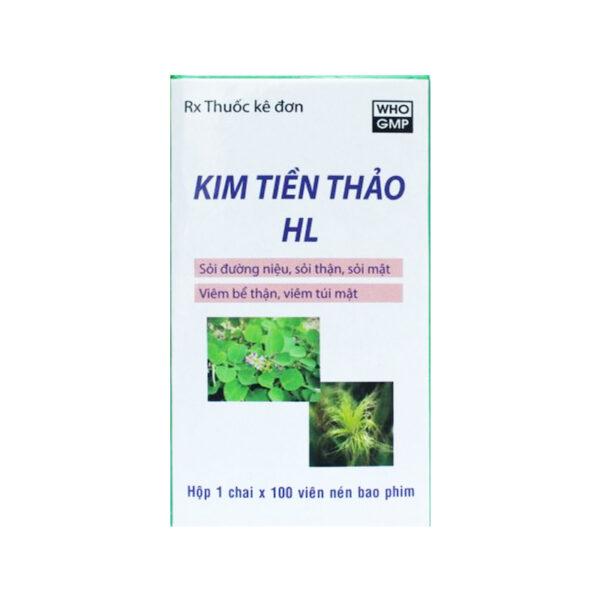 Kim Tiền Thảo HL Chai 100 Viên - Thuốc Trị Sỏi Thận