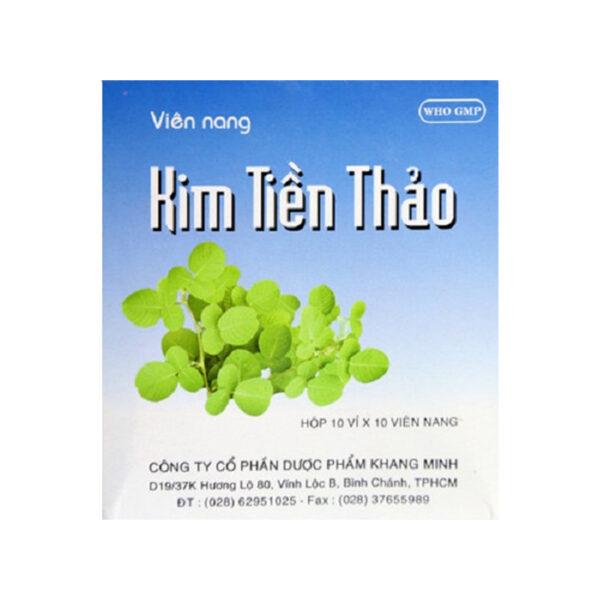 Kim Tiền Thảo Khang Minh Hộp 100 Viên - Trị Sỏi Tiết Niệu