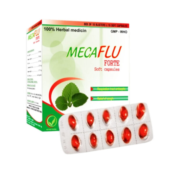 Mecaflu Forte Hộp 100 Viên - Điều Trị Cảm Cúm Hiệu Quả