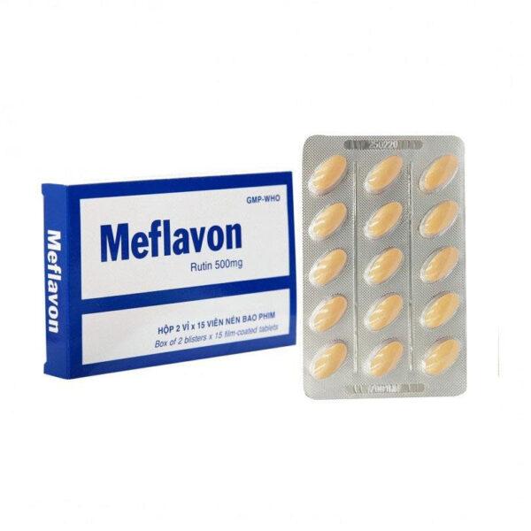 Thuốc Meflavon - Hôp 30 Viên - Điều Trị Chứng Giãn Tĩnh Mạch