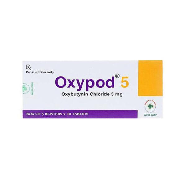 Thuốc Oxypod 5 - Hộp 30 Viên - Điều Trị Co Thắt Cơ Bàng Quang