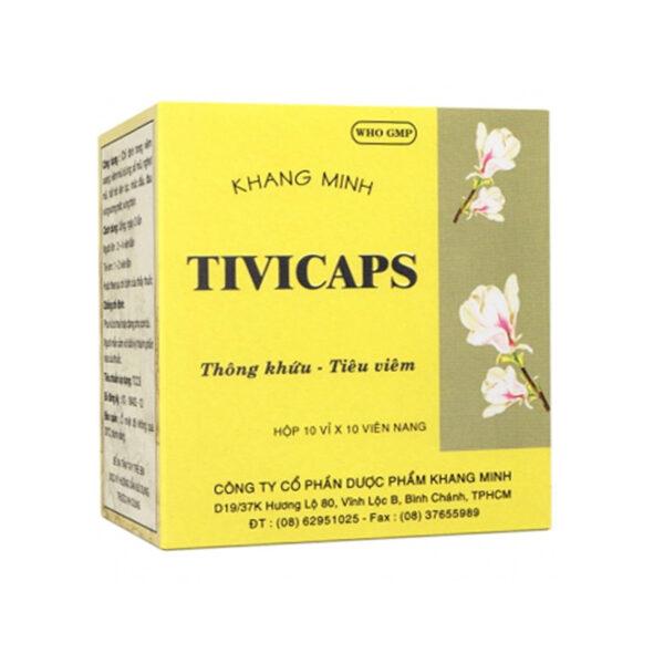 Tivicaps Hộp 100 Viên - Trị Viêm Mũi Dị Ứng