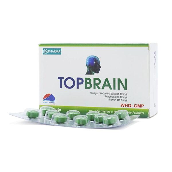 Topbrain Hộp 60 Viên - Cải Thiện Thiểu Năng Tuần Hoàn Não