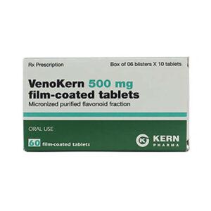 Thuốc Venokern 500mg - Hộp 60 Viên - Trị Suy Tĩnh Mạch Bạch Huyết