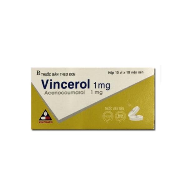 Vincerol 1mg Hộp 100 Viên - Dự Phòng Nhồi Máu Cơ Tim