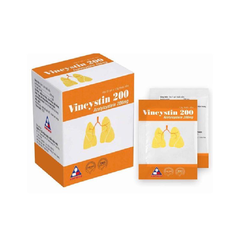 Vincystin 200 Hộp 25 Gói