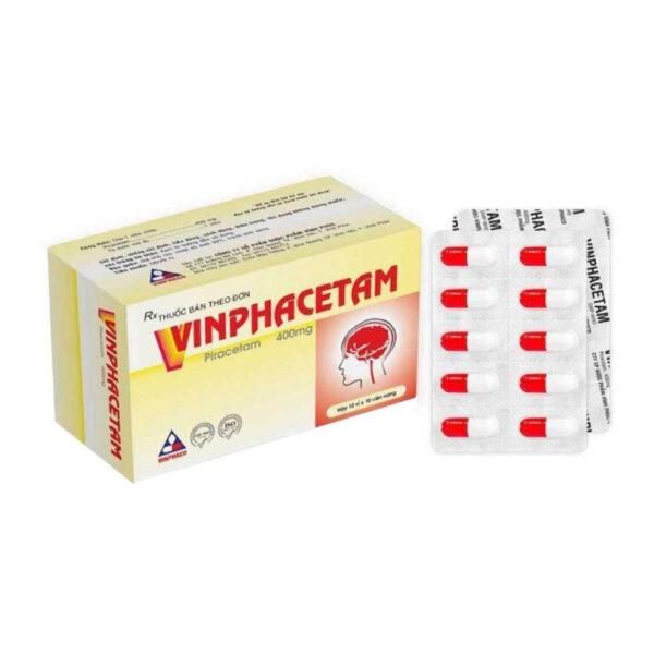Vinphacetam 400mg Hộp 100 Viên - Điều Trị Chứng Rung Giật Cơ