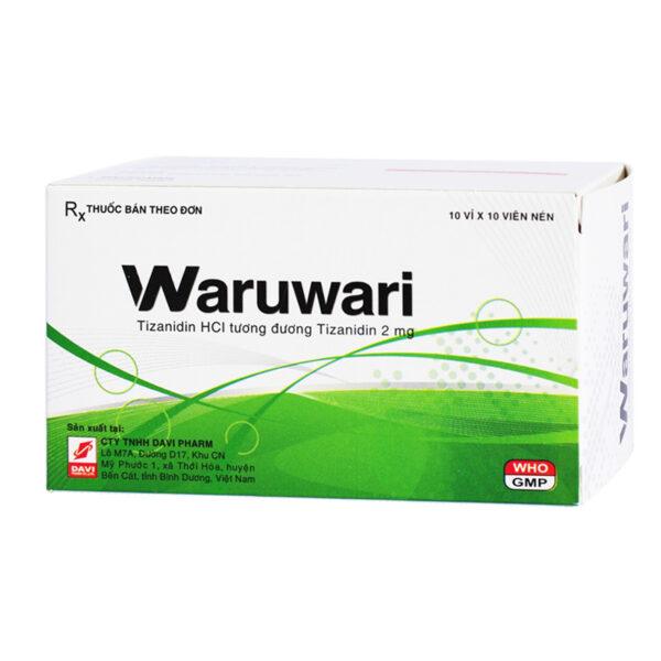 Waruwari Hộp 100 Viên - Điều Trị Đau Do Co Cơ