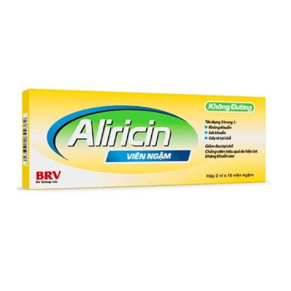 Viên Ngậm Aliricin - Hộp 20 Viên - Điều Trị Viêm Hầu - Họng