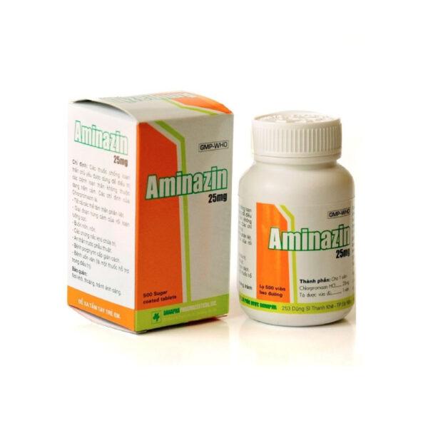 Thuốc Aminazin 25mg - Lọ 500 Viên - Điều Trị Bệnh Trầm Cảm