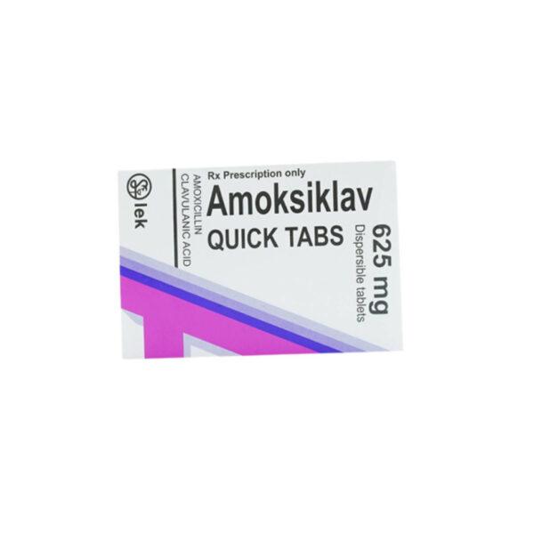 Thuốc Amoksiklav Quick Tabs  625mg - Trị Nhiễm Khuẩn