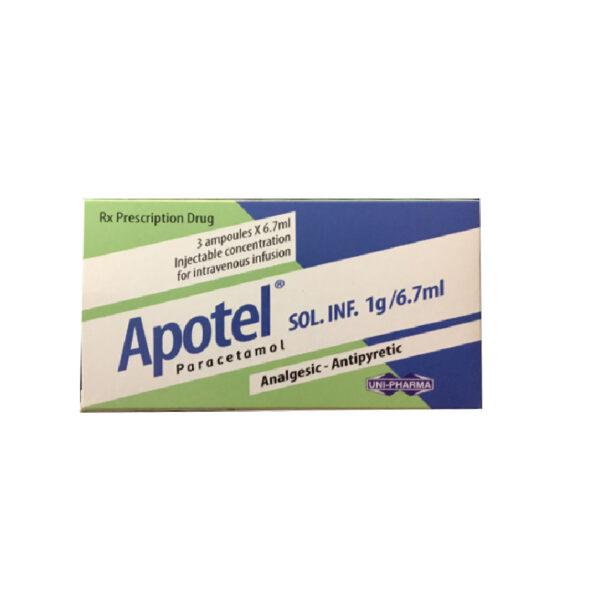 Thuốc Apotel Sol.Inf 1g/6.7ml - Hộp 3 Ống - Hạ Sốt, Giảm Đau