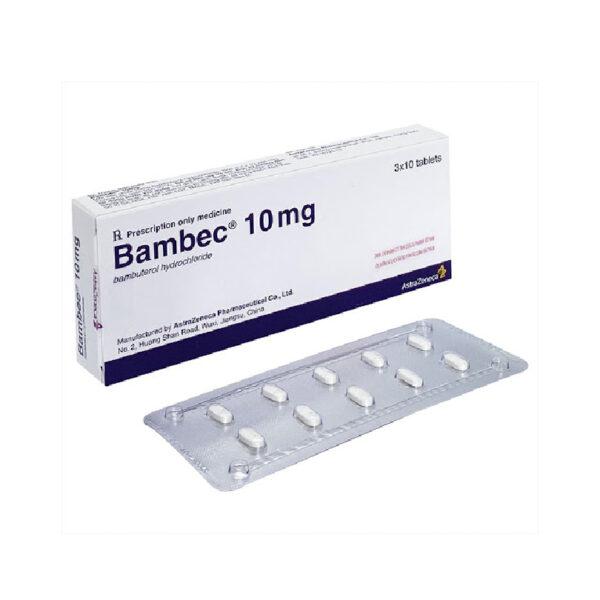 Thuốc Bambec 10 - Hộp 30 Viên - Điều Trị Viêm Phế Quản