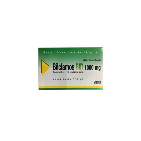 Bilclamos BID 1000mg - Hộp 14 Viên - Kháng Sinh Kháng Khuẩn