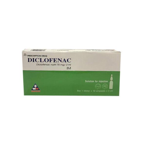 Thuốc Diclofenac 75mg/3ml Vinphaco - Điều Trị Các Cơn Đau