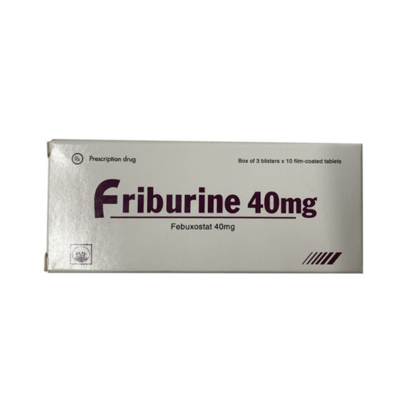 Thuốc Friburine 40mg - Hộp 30 Viên - Điều Trị Gout Hiệu Quả