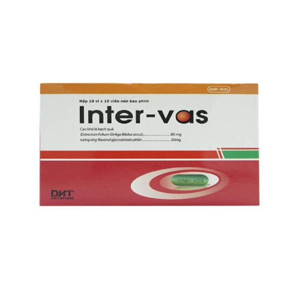 Thuốc Inter-Vas - Hộp 100 Viên - Điều Trị Thiểu Năng Tuần Hoàn Não