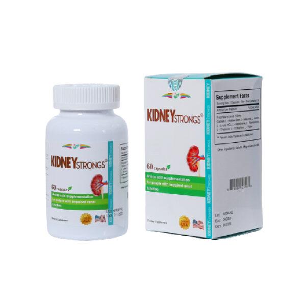 Kidney Strongs - Hộp 60 Viên - Hỗ Trợ Hình Thành Collagen Và Elastin