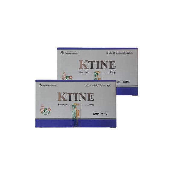Thuốc Ktine 20mg - Hộp 100 Viên - Trị Rối Loạn Căng Thẳng