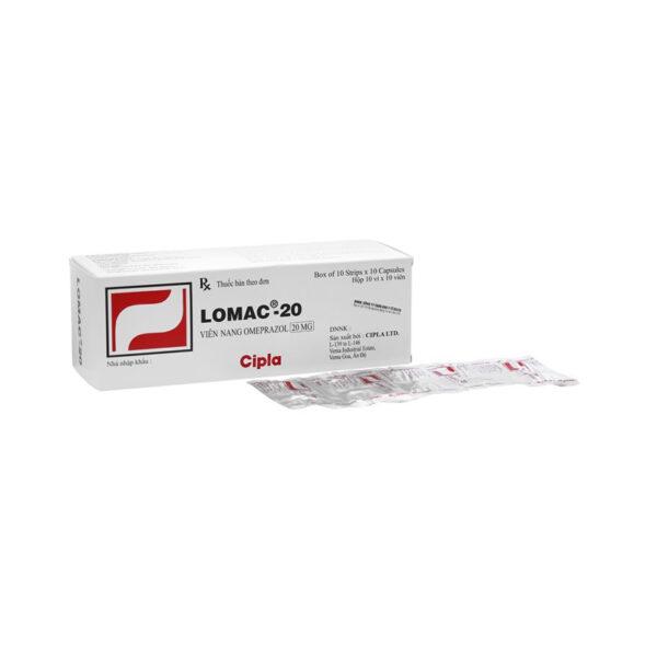 Thuốc Lomac 20 - Hộp 100 Viên - Điều Trị Loét Dạ Dày