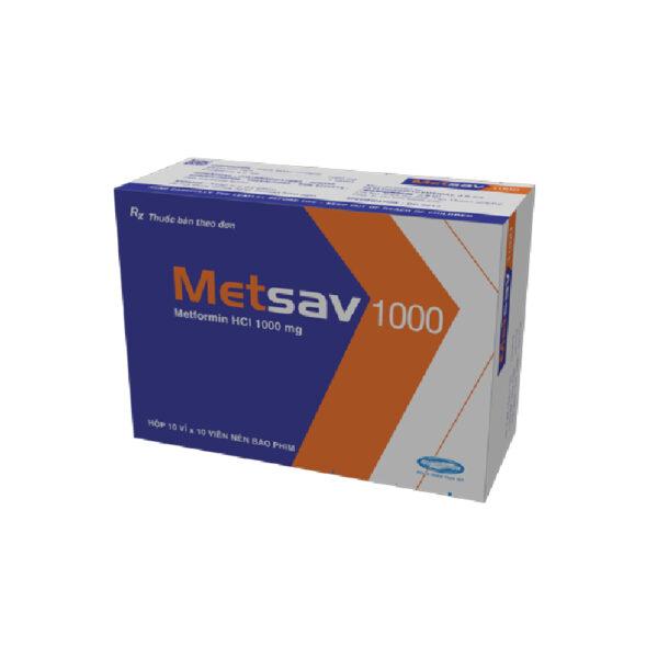 Thuốc Metsav 1000 - Hộp 100 Viên - Điều Trị Đái Tháo Đường