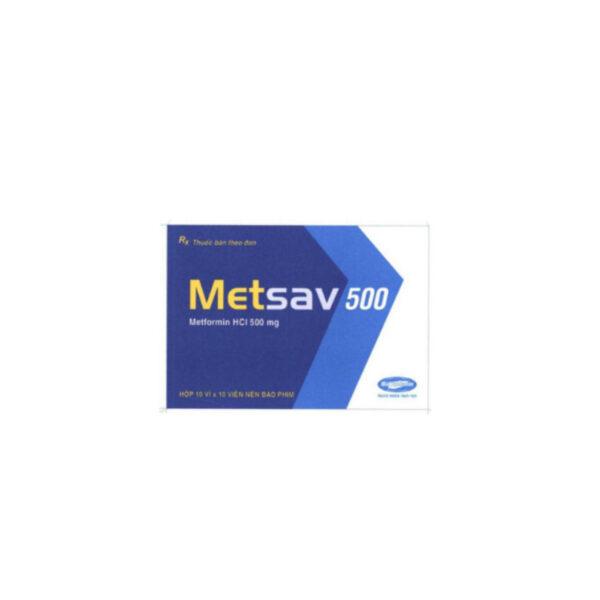 Thuốc Metsav 500 - Hộp 100 Viên - Điều Trị Đái Tháo Đường