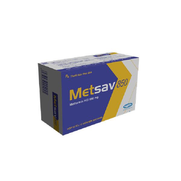 Thuốc Metsav 850 - Hộp 100 Viên - Điều Trị Đái Tháo Đường