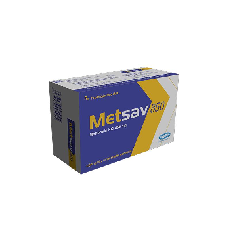 Thuốc Metsav 850 - Hộp 100 Viên